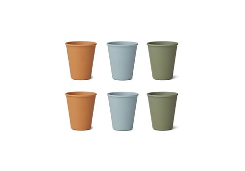 Liewood Liewood Gertrud Bamboo Cup 6-Pack Blue Multi Mix
