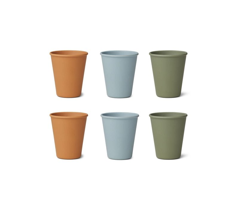 Liewood Gertrud Bamboo Cup 6-Pack Blue Multi Mix