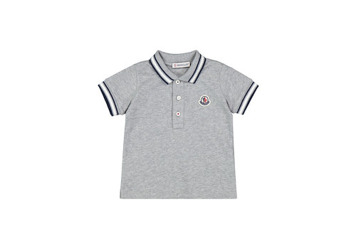 Moncler Moncler Short Sleeved Polo Shirt Grey F19518A70320