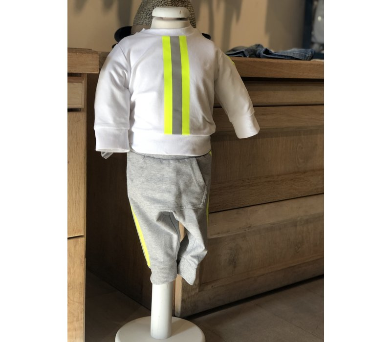 Moncler Set Round Neck + Trousers White F19518M70420