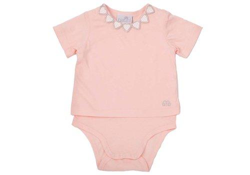 Natini Natini T-Shirt Hearts Pink Silver
