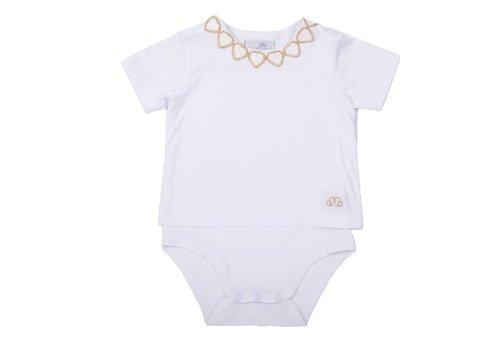 Natini Natini T-Shirt Hearts White Gold