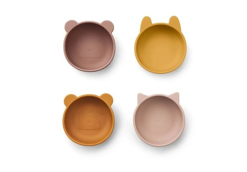Liewood Liewood Iggy Silicone Bowls 4- Pack Rose Mix