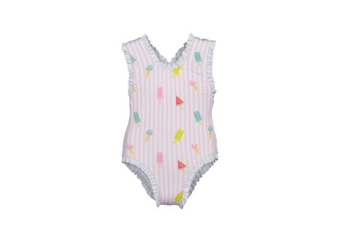 Maria Bianca Maria Bianca Stripy Pink Colourful Popsicles Bathing Suit