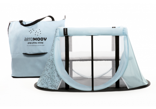 Aerosleep AeroMoov Instant Reisbed Blauw + Zonnescherm
