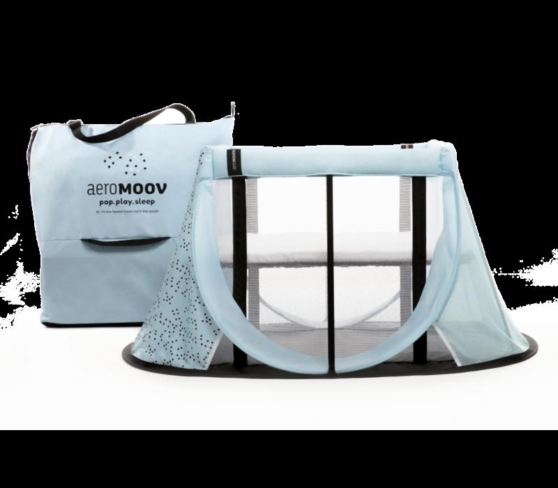 AeroMoov Instant Reisbed Blauw + Zonnescherm