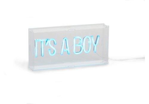Childhome Childhome Neon Lamp It's A Boy Lichtblauw