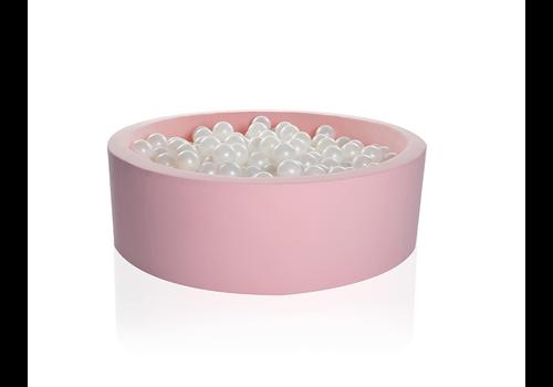 Kidkii Kidkii Ballenbad Rond Cotton Light Pink 90x40 + 200 Ballen Inclusief