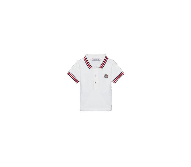 Moncler Short Sleeved Polo Shirt Natural F19518A70320