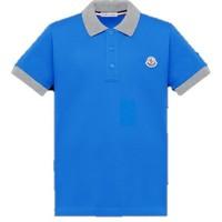 Moncler Short Sleeved Polo Shirt Medium Blue F19548A70120