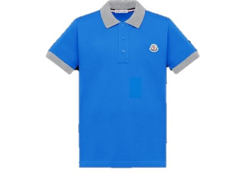 Moncler Moncler Short Sleeved Polo Shirt Medium Blue F19548A70120