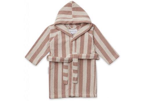 Liewood Liewood Reggie bathrobe Y/D stripe: Rose/sandy