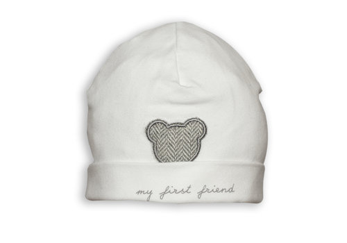 My First Collection First Chevron Bonnet My First Friends White-Grey