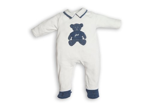 My First Collection First Class Combi Teddy Bear On Frontside White-Denim