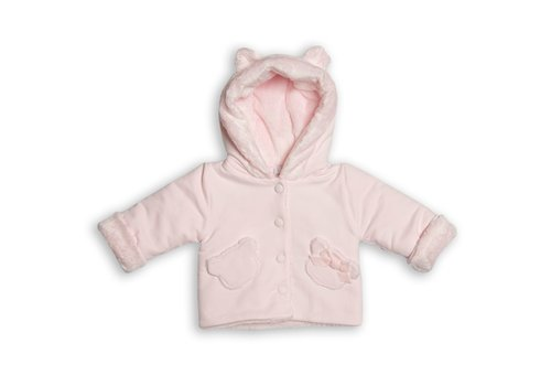 My First Collection First Teddy Hooded Coat 2 Teddy Pockets Pink
