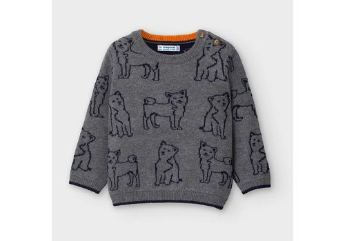 Mayoral Mayoral Jacquard print sweater Brg Cement