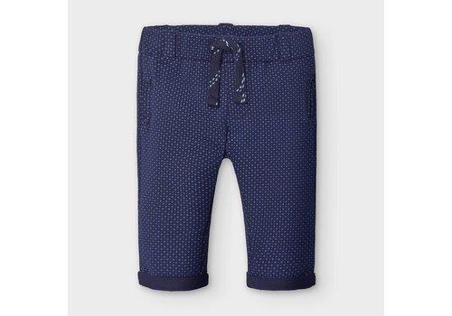 Mayoral Mayoral Printed Plush Long Pants Blue