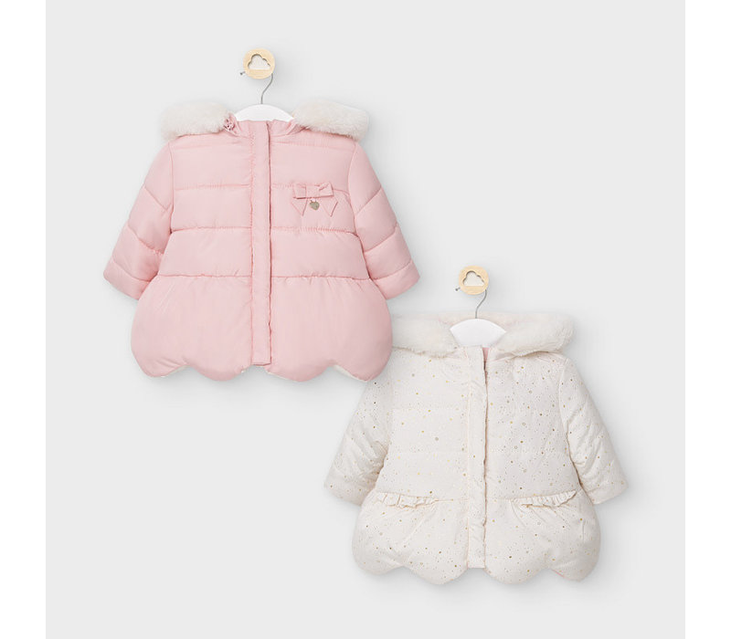 Mayoral Reversible Coat Blush
