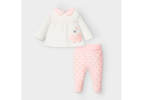 Mayoral Mayoral Two Piece Set Baby Rose