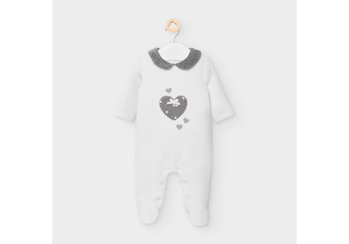 Mayoral Mayoral Padded Onesie Natural