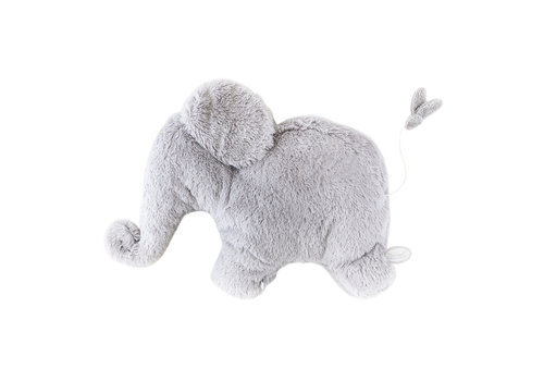 Dimpel Dimpel Musical Cuddly Toy Elephant Oscar Light Grey