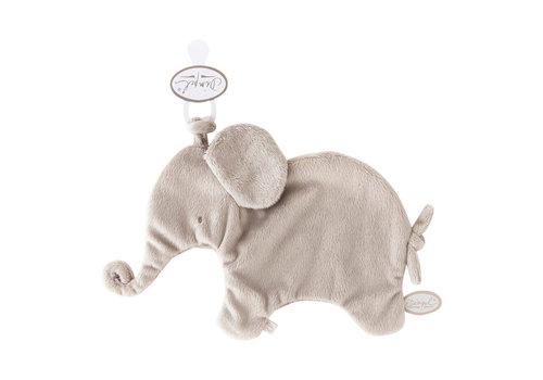 Dimpel Dimpel Cuddle Cloth Pacifier Elephant Tuttie Grey Beige