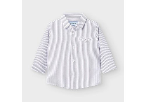 Mayoral Mayoral L/s Stripes Shirt Bordeaux
