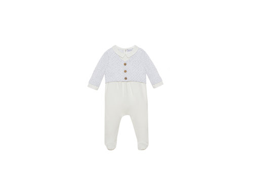 Patachou Patachou Baby Boy Playsuit Knit Ecru