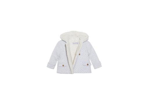 Patachou Patachou Baby Boy Coat Knit Light Grey Jacquard