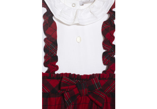 Patachou Patachou Baby Girl Romper Knit Red Check
