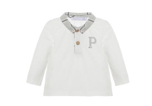 Patachou Patachou Baby Boy Polo Knit Ecru
