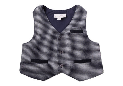 Natini Natini Spencer Gilet Vichy Blue