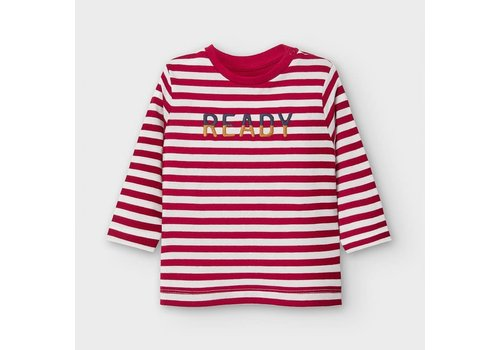 Mayoral Mayoral L/s Stripes T-Shirt Bordeaux