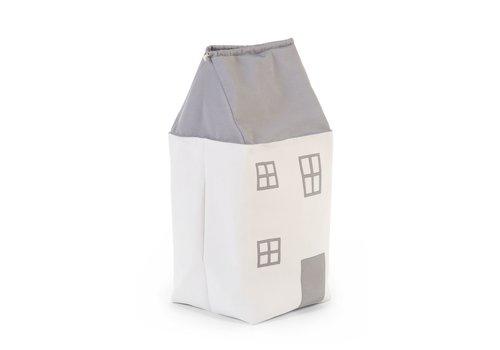 Childhome Childhome   Speelgoedzak Huis - Polyester - Grijs Ecru