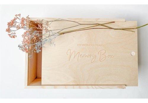 Minimou Minimou Memory Box - My Wonderyears - Wood - NL