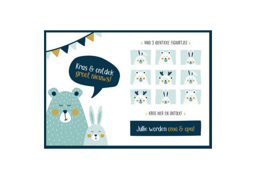 Minimou Minimou Scratchcard - Jullie Worden Oma En Opa - Golden Bear