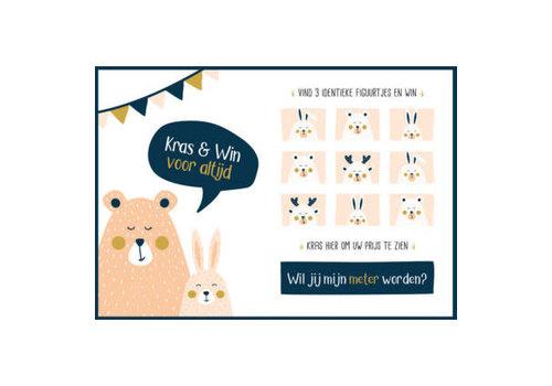Minimou Minimou Scratchcard - Wil Jij Mijn Meter Worden?  - Golden Bear