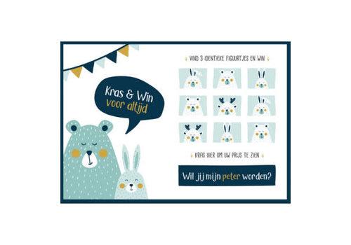 Minimou Minimou Scratchcard - Wil Jij Mijn Peter Worden?  - Golden Bear
