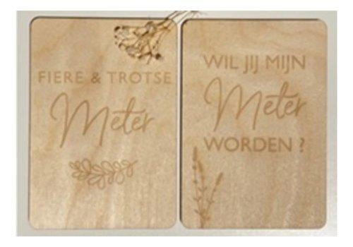 Minimou Minimou Memory Box - De Verwonderjaren Van Mijn Metekind- NL - Enveloppe & 2 Milestone Cards