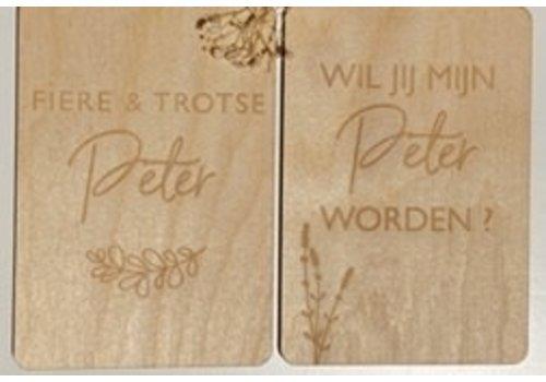 Minimou Copy of Minimou Memory Box - De Verwonderjaren Van Mijn Metekind- NL - Enveloppe & 2 Milestone Cards