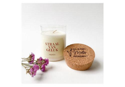 Minimou Minimou Handmade Vegan Candles - Wil Je Mijn Meter Worden - Rosewood Velvet