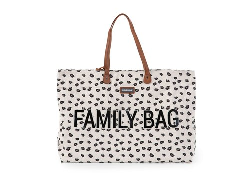 Childhome Childhome Family Bag Canvas Leopard