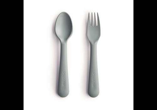 Mushie Mushie Fork & Spoon - Sage