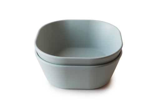 Mushie Mushie Bowl Square - Sage 2Pcs