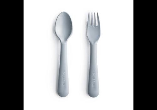 Mushie Mushie Fork & Spoon - Cloud
