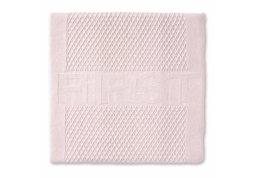 My First Collection First Lois Knitted Plaid Cotton 140x100 Blush Pink