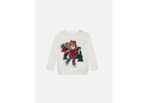 Patachou Patachou Girls Sweater Tricot Ecru