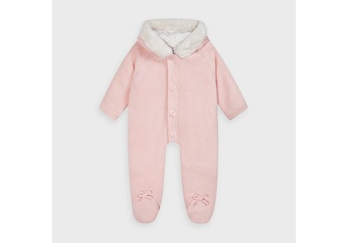 Mayoral Mayoral Knit Overall Baby Rose