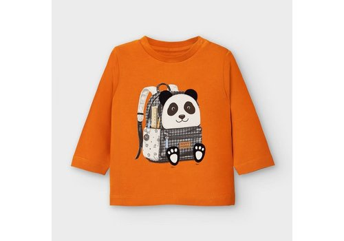 Mayoral Mayoral L/s Backpack T-Shirt Cheddar