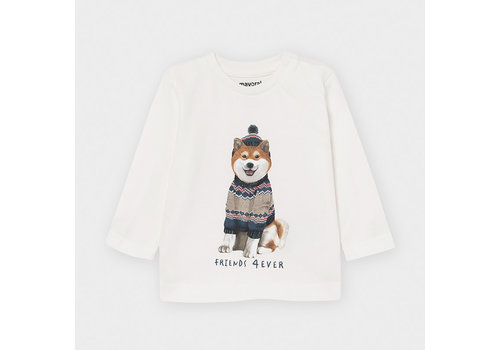 Mayoral Mayoral L/S T-Shirt Shiba Cream